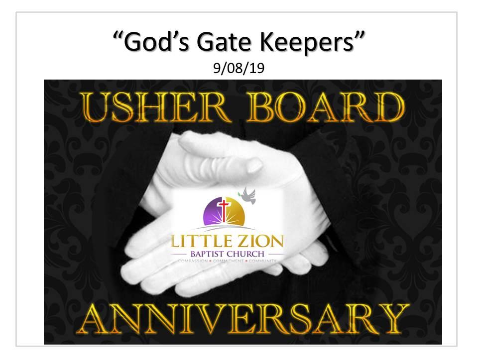 9-08-19 God's Gate Keepers (Rev. Irving Woolfork)