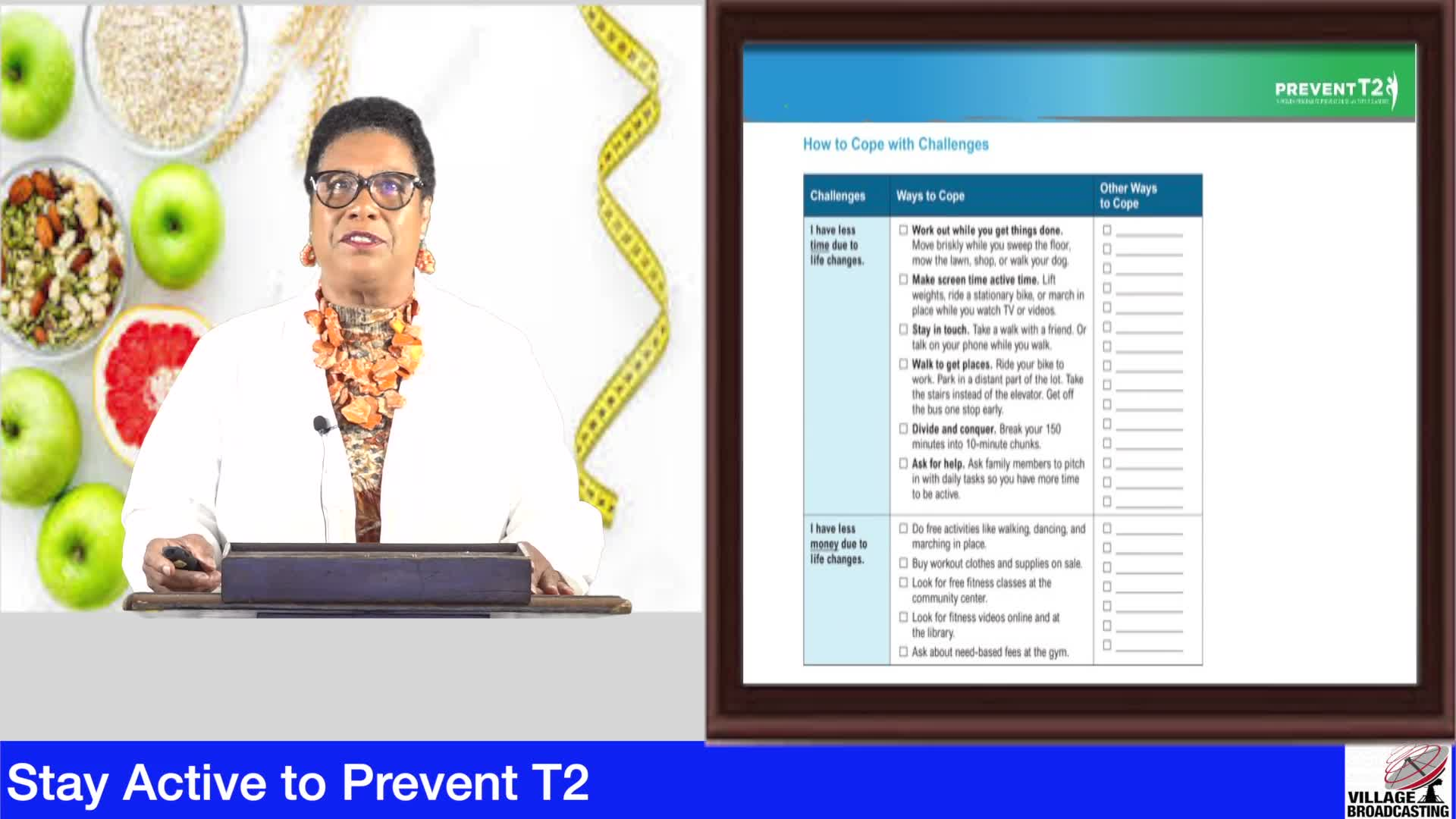 Stay Active to Prevent T2 10-23-20