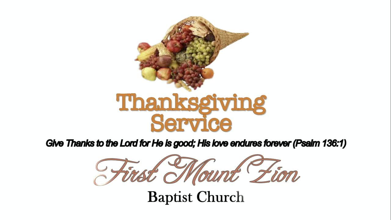 FMZBC 2019 Thanksgiving Service